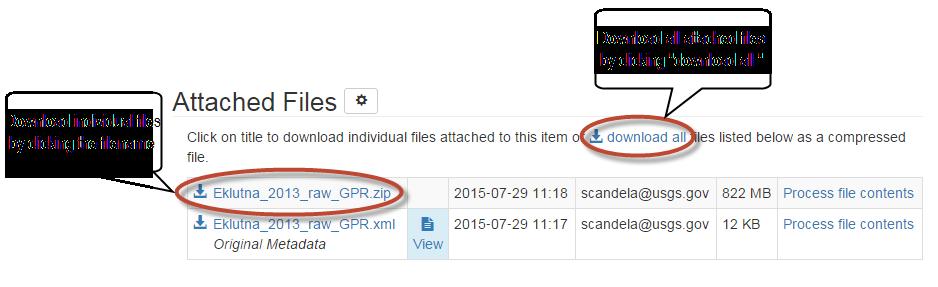 Upload and Download Files   sciencebase gov