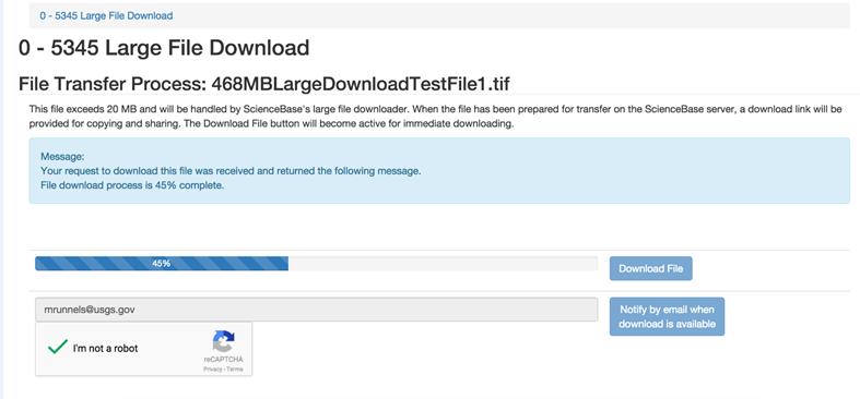 Upload and Download Files | sciencebase gov
