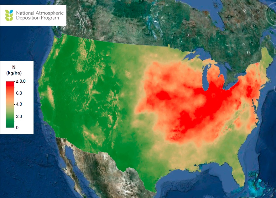 NADP map of the USA