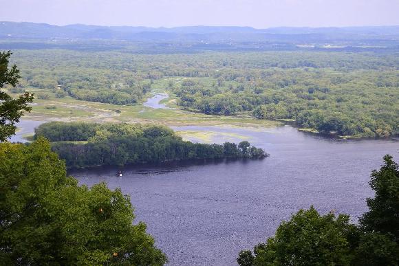 Black River Delta, Wisconsin - public domain