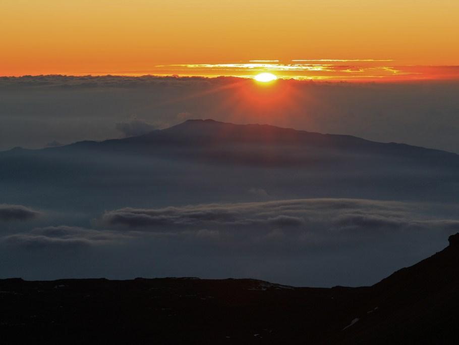 Hualalai as seen from Mauna Kea- Credit: Alan Cressler