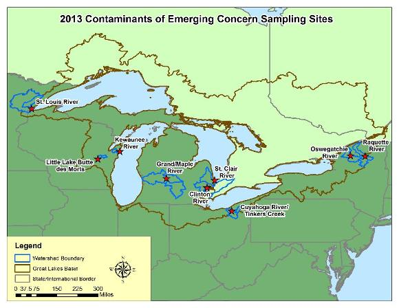 Map of study sites in the Great Lakes