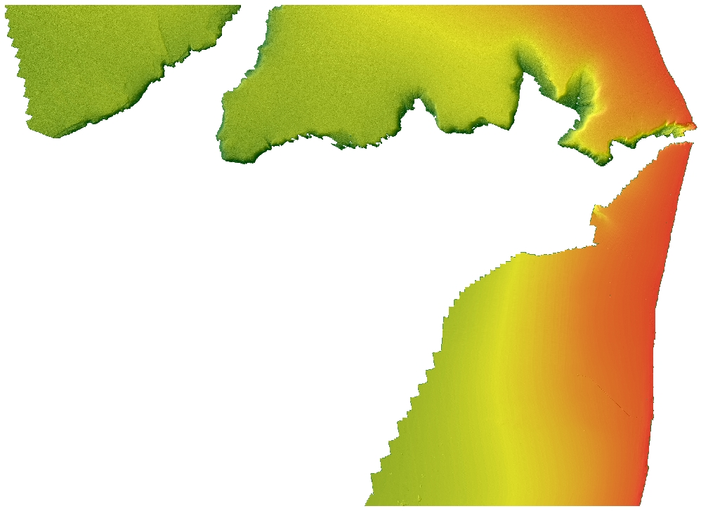 Bathymetry map of Monterey Canyon and Vicinity.