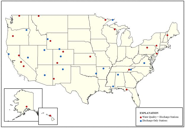 Locations of Hydrologic Benchmark Network Watersheds
