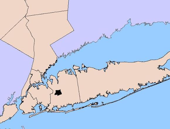 Area of Nassau Hydrogeologic Map - HA 709