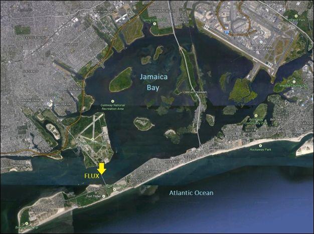 Aerial view of Jamaica Bay, New York