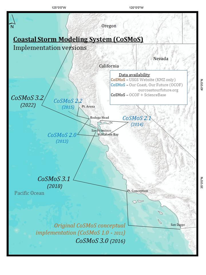 CoSMoS Version map