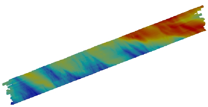 Color image of bathymetry.