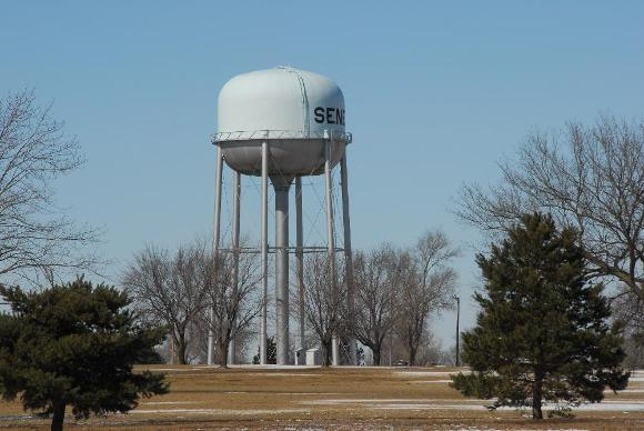 typical public-supply water tower in Kansas
