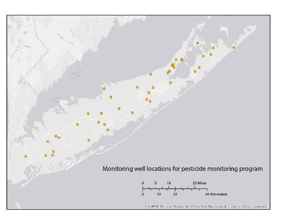 Pesticide monitoring locations