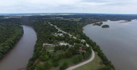 Neosho River (left) and Spring River (right) at Twin Bridges State Park