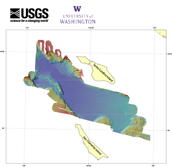 Catalina Basin bathymetry quick view