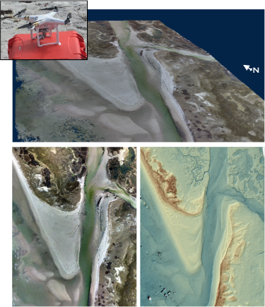 Products of Structure-from-Motion applied to data collected by UAS.