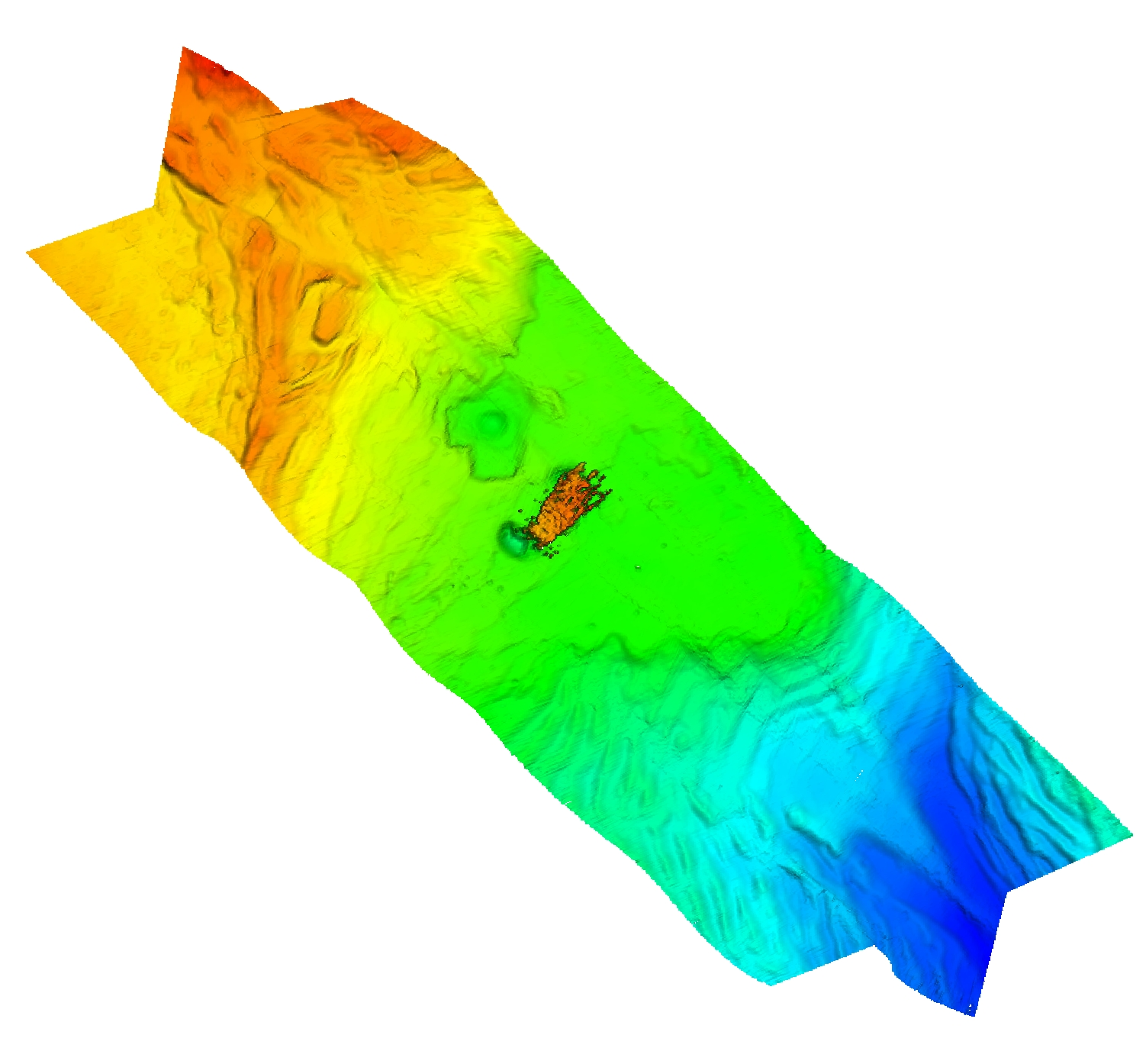 Thumbnail image of 2-m multibeam echosounder bathymetry data collected at the MC20 site on the Mississippi River Delta front offshore of southeastern Louisiana.