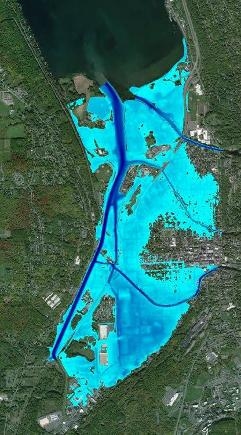 Example mapped inundation depths for Ithaca, New York