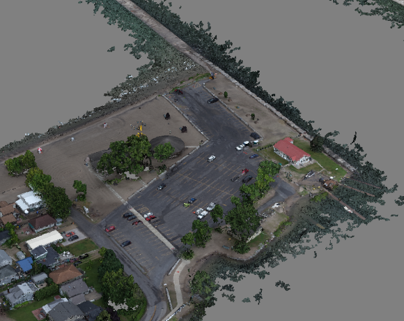 Detailed-view of point cloud for Sodus North