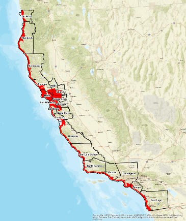 Map of groundwater modeling coverage