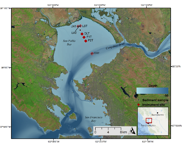 Image map showing locations of sampling efforts