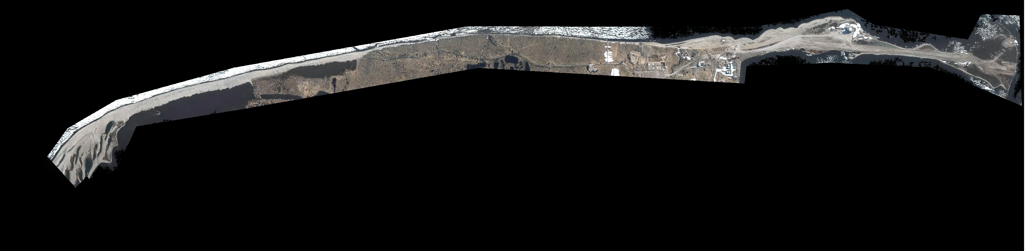 Browse image of the orthomosaic generated from photogrammetry and aerial images acquired over Barter Island, Alaska July 01 2014
