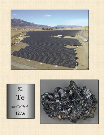 Fort Carson, CO, ground-mounted solar photovoltaic array. The mineral enargite.