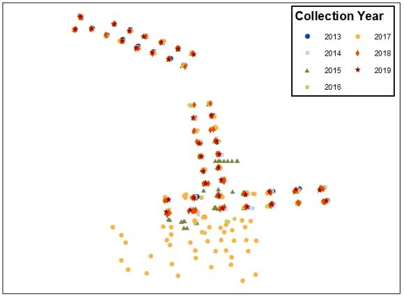 Browse graphic of the sediment sample locations.