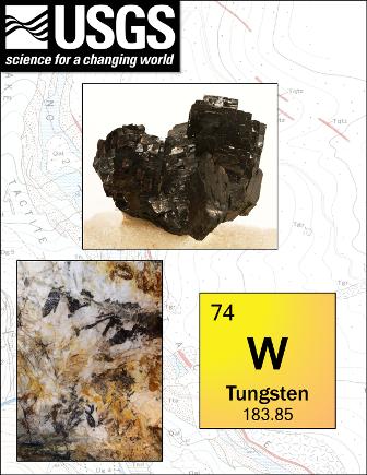 Tungsten minerals - ferberite and scheelite
