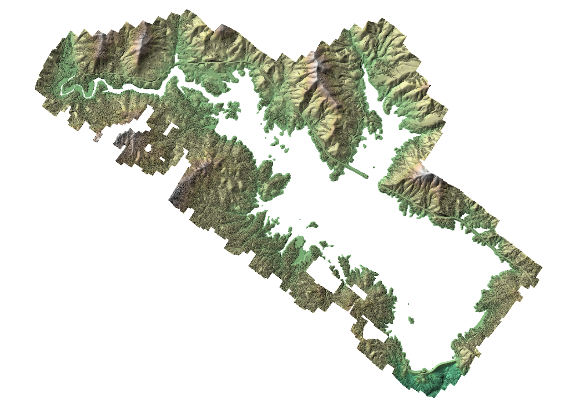 Color shaded-relief digital surface model map from 2018-12-02