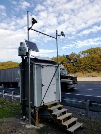 Highway station to monitor runoff flow and quality and road conditions in study